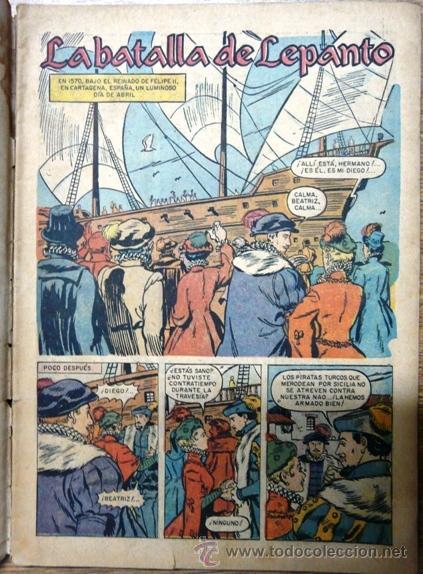 Tebeos: EPOPEYA # 2 NOVARO 1958 LA BATALLA DE LEPANTO, ENCUENTRO INMORTAL - Foto 2 - 28918206