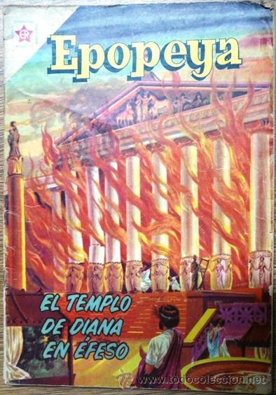 EPOPEYA # 37 NOVARO 1961 EL TEMPLO DE DIANA EN EFESO BUEN ESTADO (Tebeos y Comics - Novaro - Epopeya)