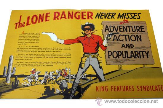 LONE RANGER. CATÁLOGO PROMOCIONAL, C. 1950. ORIGINAL AMERICANO (Tebeos y Comics - Novaro - El Llanero Solitario)