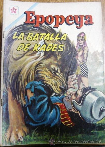 EPOPEYA # 46 NOVARO 1962 LA BATALLA DE KADES BUEN ESTADO (Tebeos y Comics - Novaro - Epopeya)