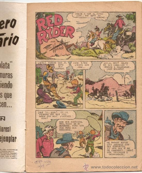 Tebeos: RED RYDER N°290 - CASTORCITO *NOVARO * - Foto 2 - 7810571