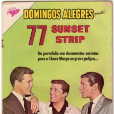 Tebeos: DOMINGOS ALEGRES # 490 - 77 SUNSET STRIP - EFREM ZIMBALIST JR., SMITH & KOOKIE BYRNES - NOVARO 1963. Lote 32064252