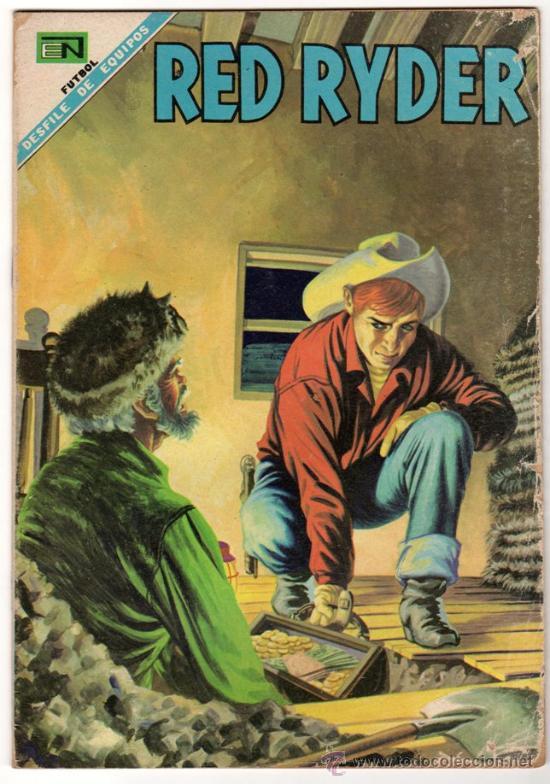 RED RYDER # 184 - NOVARO 1968 - FUTBOL: PACHUCA, ATLAS, CRUZ AZUL & NUEVO LEON - (Tebeos y Comics - Novaro - Red Ryder)