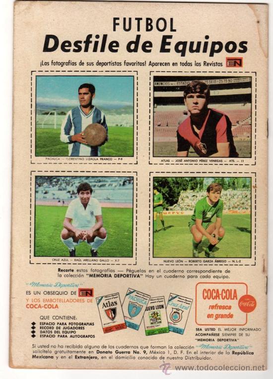 Tebeos: RED RYDER # 184 - NOVARO 1968 - FUTBOL: PACHUCA, ATLAS, CRUZ AZUL & NUEVO LEON - - Foto 2 - 32279666