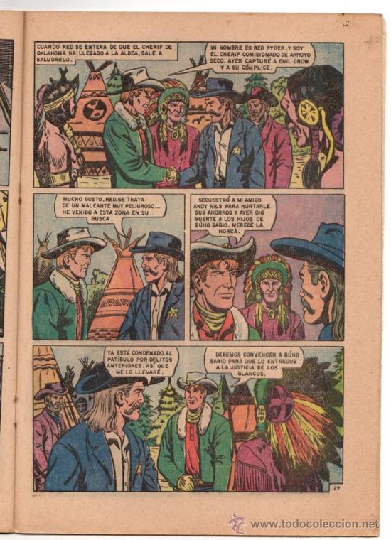 Tebeos: RED RYDER # 184 - NOVARO 1968 - FUTBOL: PACHUCA, ATLAS, CRUZ AZUL & NUEVO LEON - - Foto 5 - 32279666