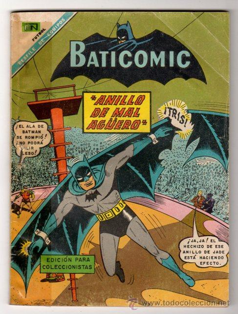BATICOMIC # 15 BATMAN, JULIO JORDAN, IMPOSIBLE.. NOVARO 1968 IMPECABLE ESTADO 64 PAG (Tebeos y Comics - Novaro - Batman)