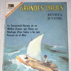 Tebeos: GRANDES VIAJES Nº 75 : LA PELIGROSA AVENTURA DE BOMBARD (NOVARO) AÑO 1969. Lote 33235399