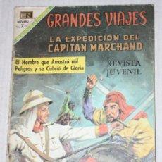 Tebeos: GRANDES VIAJES Nº 76 : LA EXPEDICIÓN DEL CAPITÁN MARCHAND (NOVARO) AÑO 1969. Lote 33260792