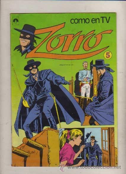 ZORRO COMO EN TV NUM.5 EDIT. TUCUMAN ARGENT.COLOR TIPO NOVARO (Tebeos y Comics - Novaro - Domingos Alegres)