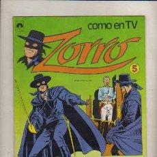 Tebeos: ZORRO COMO EN TV NUM.5 EDIT. TUCUMAN ARGENT.COLOR TIPO NOVARO. Lote 33309734