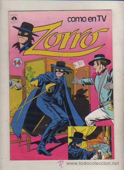 ZORRO COMO EN TV NUM. EDIT. TUCUMAN ARGENT.COLOR TIPO NOVARO (Tebeos y Comics - Novaro - Domingos Alegres)