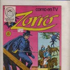 Tebeos: ZORRO COMO EN TV NUM. EDIT. TUCUMAN ARGENT.COLOR TIPO NOVARO. Lote 33309842