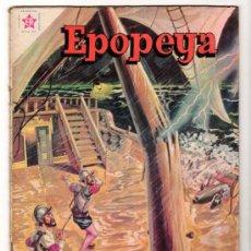Tebeos: EPOPEYA # 27 LA ARMADA INVENCIBLE NOVARO 1960 DETALLES DE USO. Lote 33680965