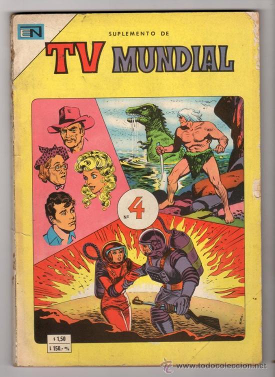TV MUNDIAL ESPECIAL # 4 -128 PAG NOVARO 1970 - DRACULA, NARRACIONES TERRORIFICAS, MISION IMPOSIBLE (Tebeos y Comics - Novaro - Sci-Fi)