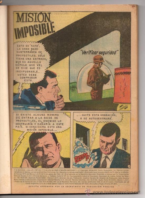 Tebeos: TV MUNDIAL ESPECIAL # 4 -128 PAG NOVARO 1970 - DRACULA, NARRACIONES TERRORIFICAS, MISION IMPOSIBLE - Foto 2 - 33692476