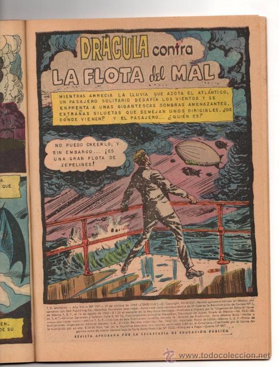 Tebeos: TV MUNDIAL ESPECIAL # 4 -128 PAG NOVARO 1970 - DRACULA, NARRACIONES TERRORIFICAS, MISION IMPOSIBLE - Foto 9 - 33692476