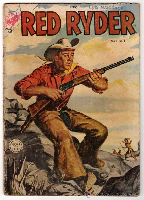 RED RYDER # 4 POR FRED HARMAN NOVARO (SEA) 1955 BUEN ESTADO CON DETALLES DE USO (Tebeos y Comics - Novaro - Red Ryder)