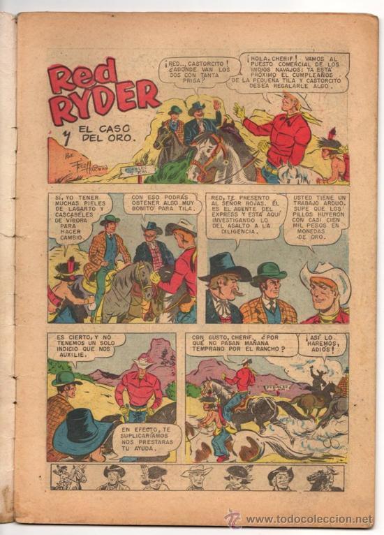 Tebeos: RED RYDER # 4 POR FRED HARMAN NOVARO (SEA) 1955 BUEN ESTADO CON DETALLES DE USO - Foto 2 - 33886074