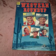 Tebeos: WESTERN ROUNDUP Nº 5. DELL COMIC 1954(ASES DEL RODEO). Lote 34475243