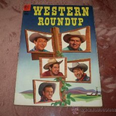 Tebeos: WESTERN ROUNDUP Nº 4. DELL COMIC 1953(ASES DEL RODEO). Lote 34479778