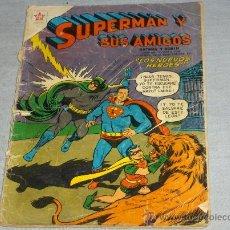 Tebeos: NOVARO SUPERMAN Y SUS AMIGOS Nº 24 Y ÚLTIMO CON BATMAN Y ROBIN. 1957. MUY DIFÍCIL. Lote 34554747
