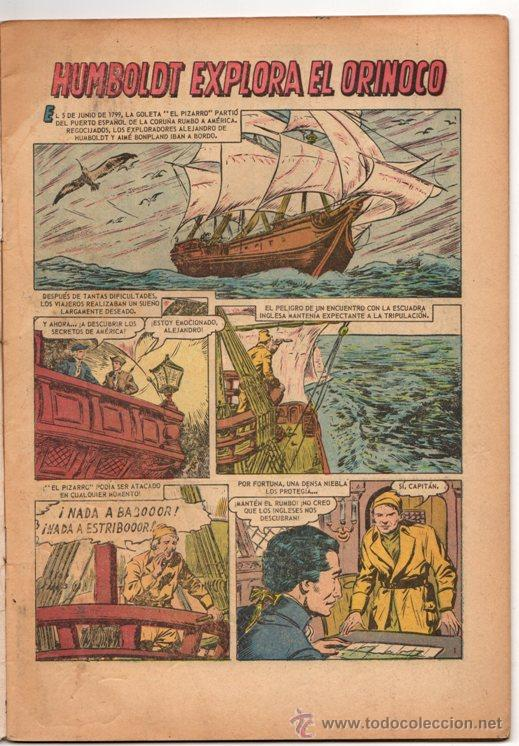 Tebeos: GRANDES VIAJES # 23 HUMBOLDT EXPLORA EL ORINOCO - NOVARO 1964 - - Foto 2 - 34638085