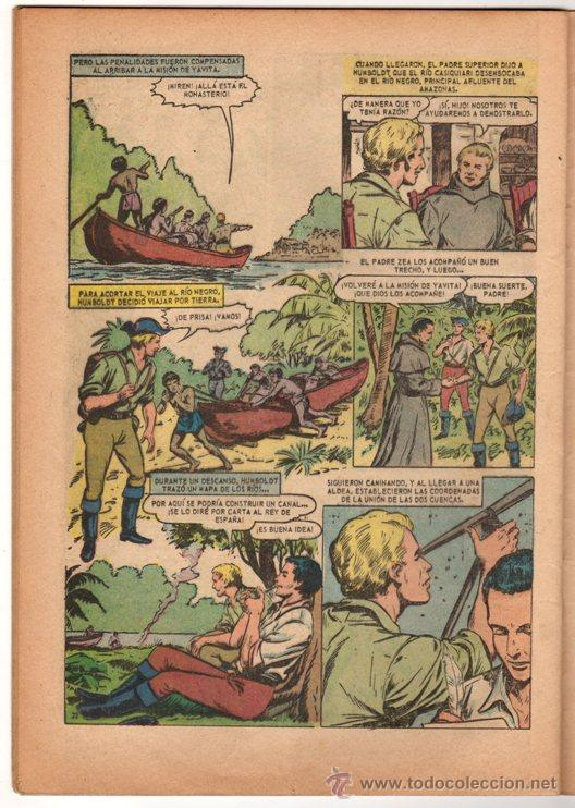 Tebeos: GRANDES VIAJES # 23 HUMBOLDT EXPLORA EL ORINOCO - NOVARO 1964 - - Foto 3 - 34638085