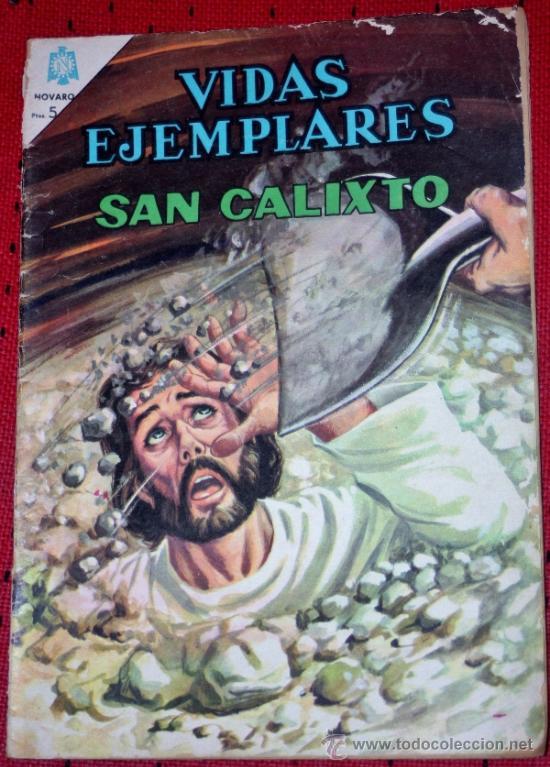 VIDAS EJEMPLARES Nº 225 :SAN CALIXTO (Tebeos y Comics - Novaro - Vidas ejemplares)