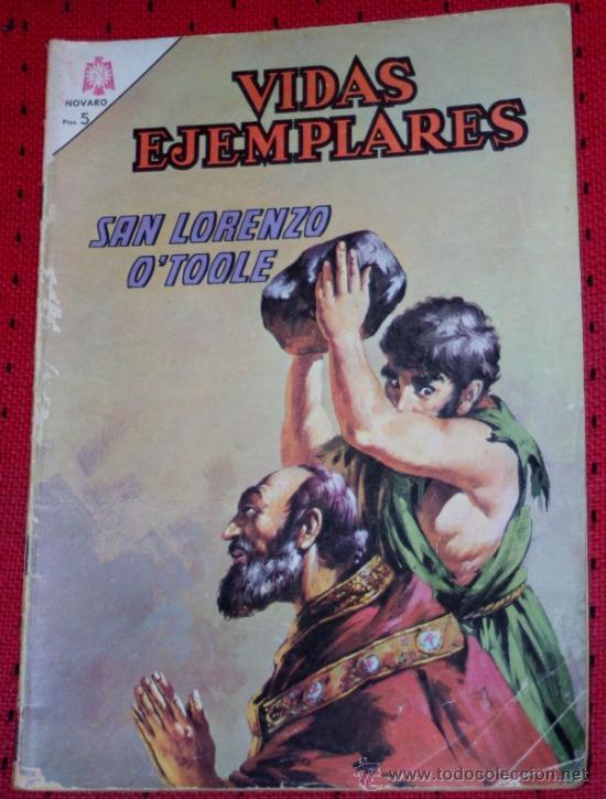 VIDAS EJEMPLARES Nº 220 :SAN LORENZO O´TOOLE (Tebeos y Comics - Novaro - Vidas ejemplares)