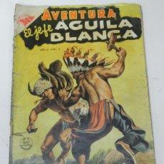 Tebeos: AVENTURA Nº 8 EL JEFE AGUILA BLANCA 1953 - SEA (NOVARO) . TIENE UNA RAJA EN EL LOMO DE 2 CMS. APROXI. Lote 35185391
