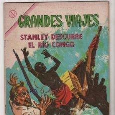 Tebeos: GRANDES VIAJES # 17 STANLEY DESCUBRE EL RIO CONGO - NOVARO 1964 - EXCELENTE. Lote 35470827