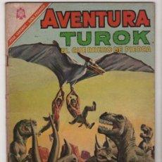 Tebeos: AVENTURA # 461 TUROK EL GUERRERO DE PIEDRA, SON OF STONE NOVARO 1966 BUEN ESTADO. Lote 35487814