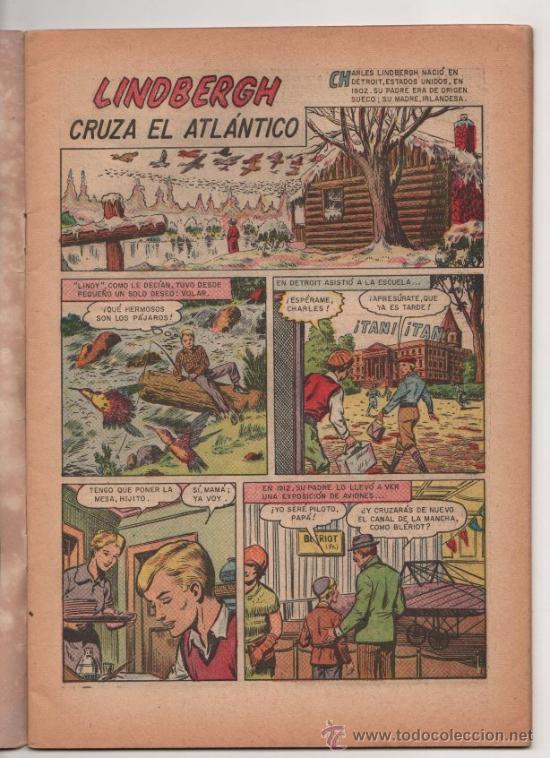 Tebeos: GRANDES VIAJES # 13 CHARLES LINDBERGH CRUZA EL ATLANTICO - NOVARO 1964 - EXCELENTE - Foto 2 - 35561097
