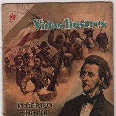 Tebeos: VIDAS ILUSTRES # 18 FEDERICO CHOPIN, EL PIANISTA HEROICO NOVARO 1958. Lote 36451111