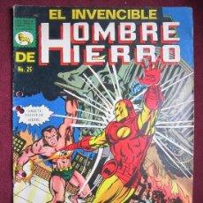 Tebeos: EL INVENCIBLE HOMBRE DE HIERRO Nº 25. LA PRENSA MEXICO. 1970. MARVEL. IRON MAN.. Lote 36460088