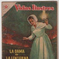 Tebeos: VIDAS ILUSTRES # 29 FLORENCIA NIGHTINGALE, LA DAMA DE LA LINTERNA NOVARO 1958. Lote 36493405