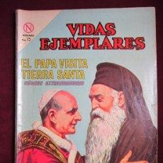 Tebeos: VIDAS EJEMPLARES NÚMERO EXTRAORDINARIO. 1964. EL PAPA VISITA TIERRA SANTA. PAULO VI. NOVARO.. Lote 36557720
