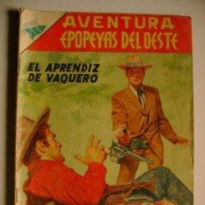 Tebeos: AVENTURA N° 59 - EPOPEYAS DEL OESTE - ORIGINAL EDITORIAL NOVARO. Lote 36694547