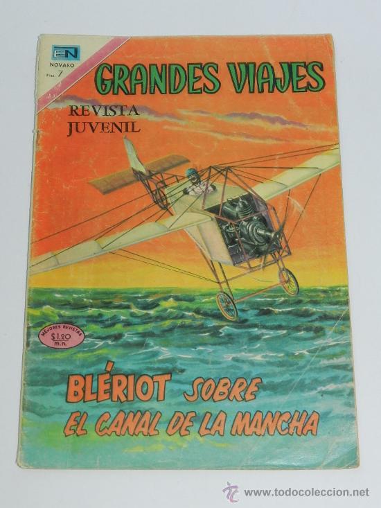 GRANDES VIAJES Nº 97 - BLÉRIOT SOBRE EL CANAL DE LA MANCHA - AÑO 1971 - ESTADO REGULAR. (Tebeos y Comics - Novaro - Grandes Viajes)