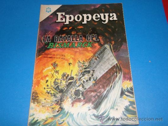 EPOPEYA.-LA BATALLA DEL BISMARCK.- Nº89.-ED.NOVARO (Tebeos y Comics - Novaro - Epopeya)