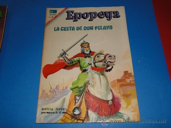 EPOPEYA. LA GESTA DE DON PELAYO .-Nº105.-ED. NOVARO, 1967 (Tebeos y Comics - Novaro - Epopeya)