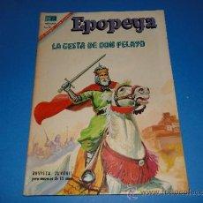 Tebeos: EPOPEYA. LA GESTA DE DON PELAYO .-Nº105.-ED. NOVARO, 1967. Lote 36718806