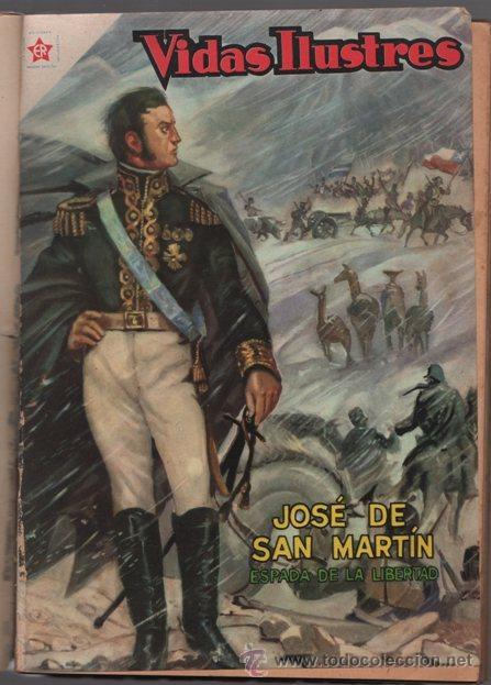 Tebeos: CINCO VIDAS ILUSTRES SAN MARTIN, DREYFUS NOVARO QUEROMON 1950´S 160 PAG LEYENDAS AMERICA # 2 BUEN ES - Foto 3 - 36839162