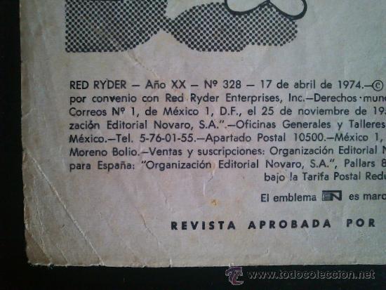 Tebeos: RED RYDER N° 328 NOVARO 1974 - Foto 3 - 36774321