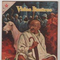 Tebeos: VIDAS ILUSTRES # 25 MAHATMA GANDHI, FORJADOR DE LA INDIA - NOVARO 1958 EXCELENTE ESTADO. Lote 37305991