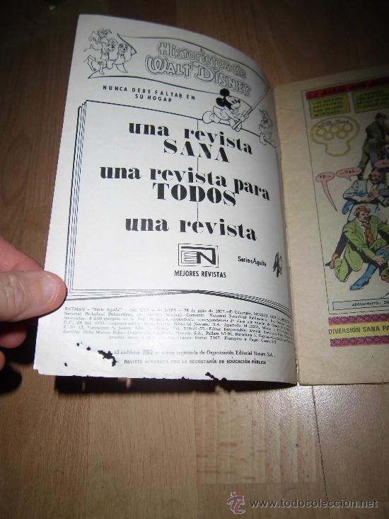 Tebeos: BAT MAN NOVARO Nº 881 MEXICO 1977 - Foto 2 - 37766562