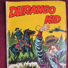 Tebeos: DURANGO KID Nº 78. LA PRENSA, 1959. MÉXICO. TIPO NOVARO. Lote 37981071