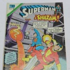 Tebeos: SUPERMAN, SERIE AGUILA NUM. 2-1163, JUNIO DE 1976,SHAZAM EL CAPITAN MARVEL, LA LUCHA CONTRA LOS SERE. Lote 38217168