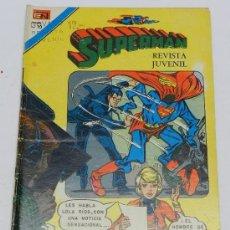 Tebeos: SUPERMAN, SERIE AGUILA NUM. 1042, DICIEMBRE 1975, LA INVASION DE LOS INSECTOS.. Lote 38217266