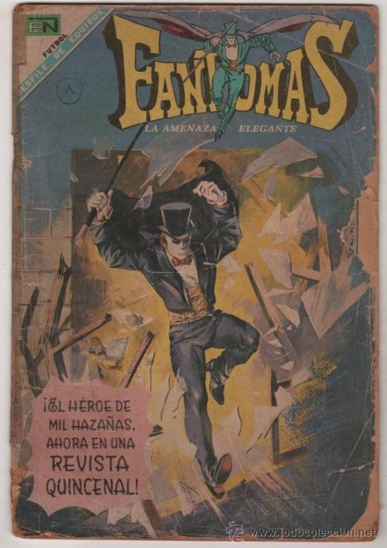 FANTOMAS # 1 NOVARO 1969 RUBEN LARA - 200 EJEMPLARES A LA VENTA - FANTOMAS & LOS MAGNATES (Tebeos y Comics - Novaro - Sci-Fi)